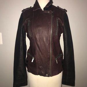 Women's Michael Kors leather jacket size medium
